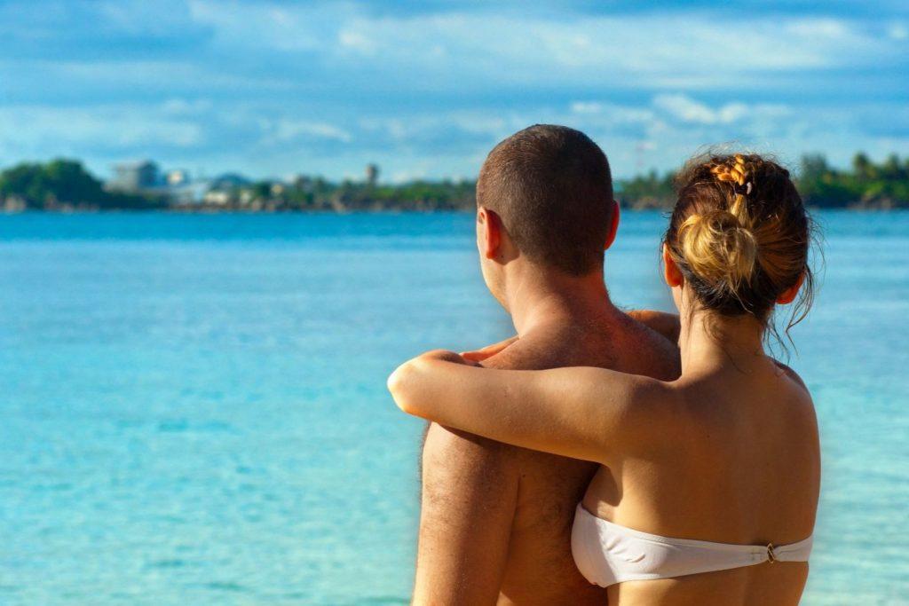 A couple at Bali beach